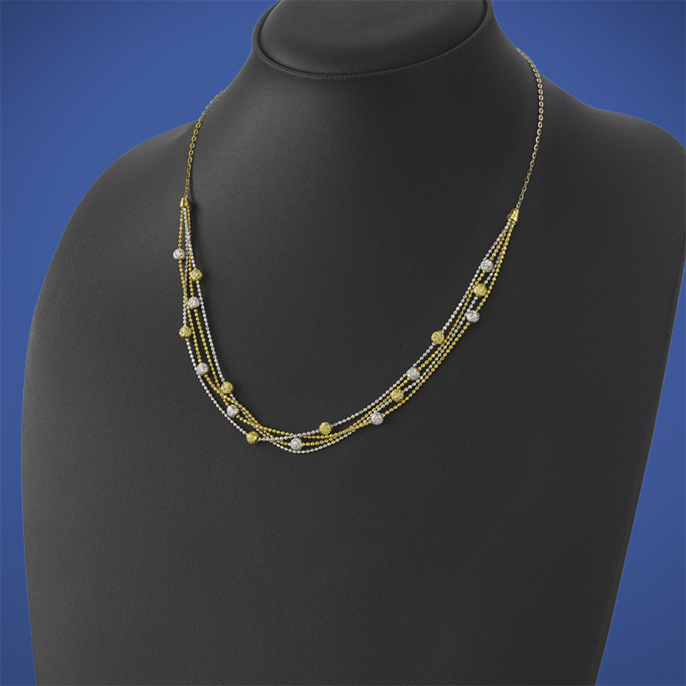 2-tone-gold-ball-cluster-necklace-in-MGSDB195-NL-YG