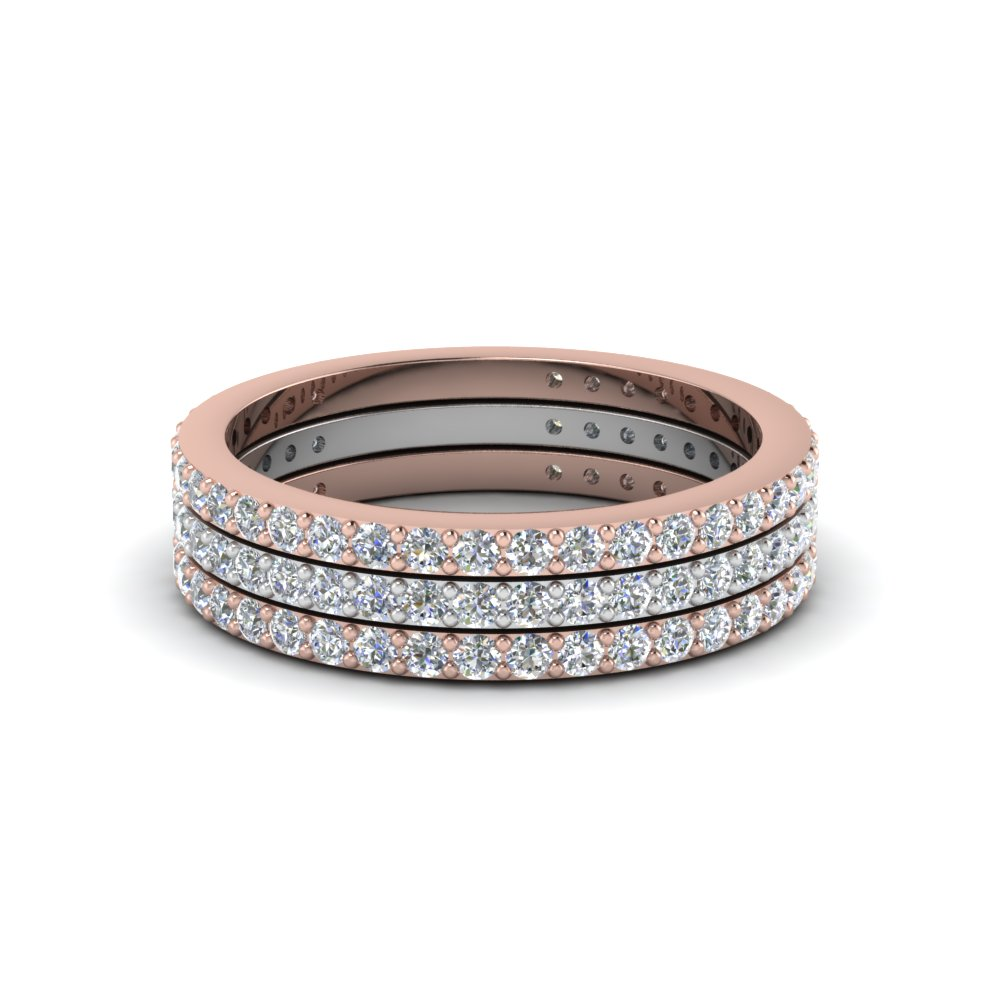 2 Tone Multi Stack Diamond Band