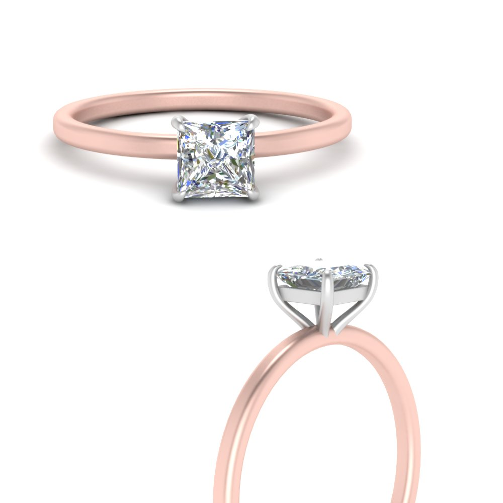 2-tone thin-princess-cut-solitaire-engagement-ring-in-FD9358TPRRANGLE3-NL-RG