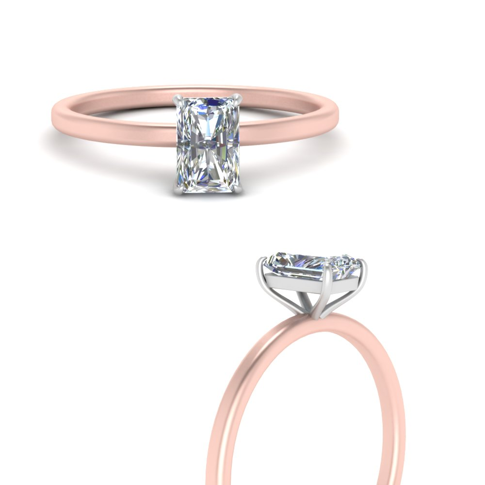 2-tone thin-radiant-cut-solitaire-engagement-ring-in-FD9358TRARANGLE3-NL-RG