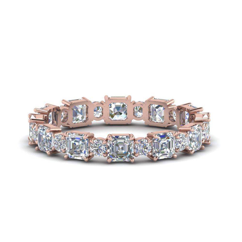 Asscher cut Eternity Band for Anniversary