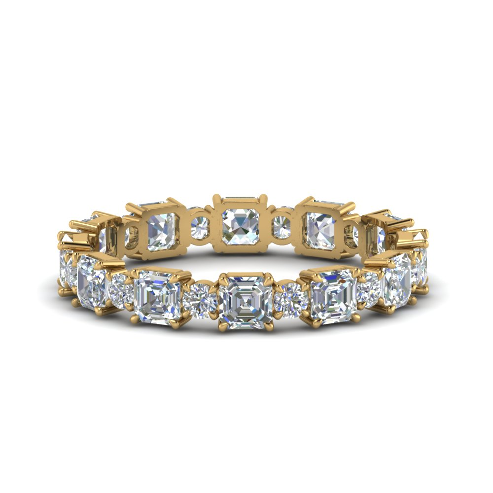 Asscher & Round Art Deco Band