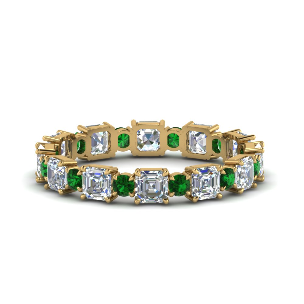 Asscher And Round Art Deco Band