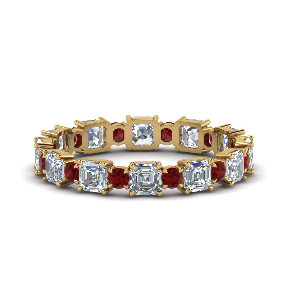 2.25-ct.-asscher-and-round-art-deco-diamond-eternity-band-with-ruby-in-FDEWB123628AS(3.00MM)GRUDR-NL-YG