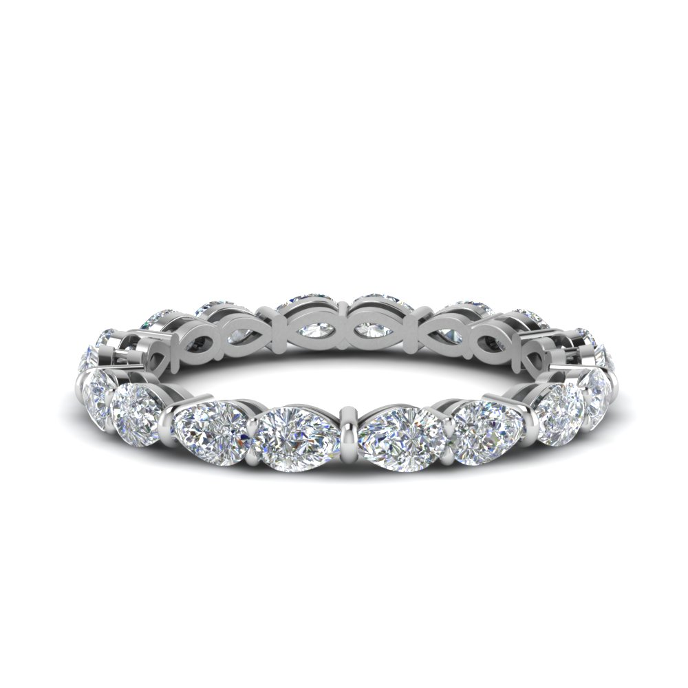 2.70 Ct. Pear Diamond Eternity Band