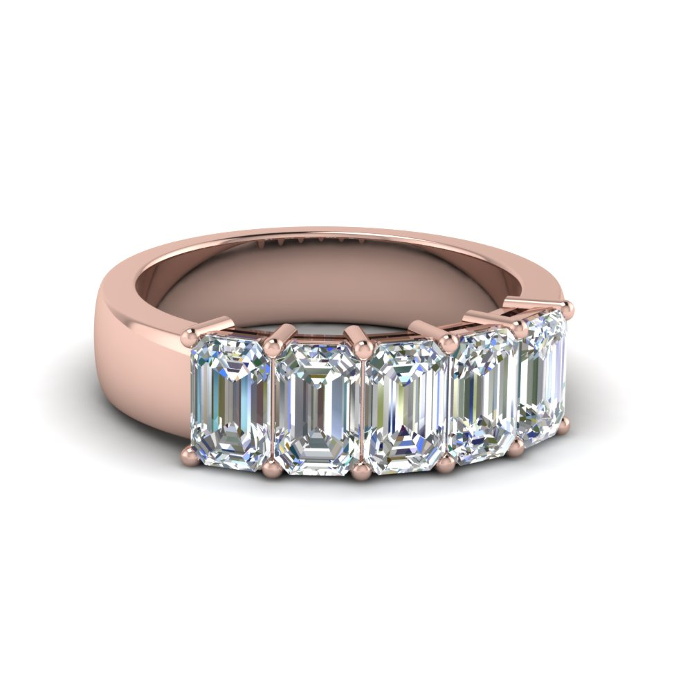 2.5 Ct. Emerald Cut Five Stone Ring