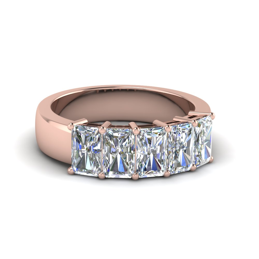 2.5 Ct. Radiant Diamond Wedding Band