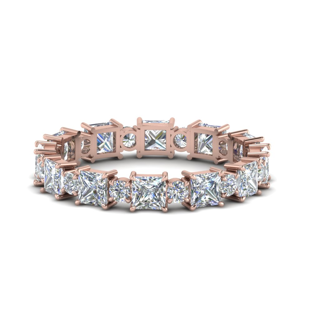 2.50 Ct. Art Deco Rose Gold Band