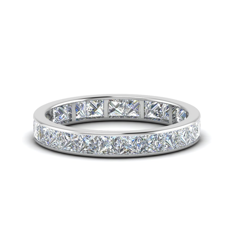 2.50 Carat Princess Cut Channel Band