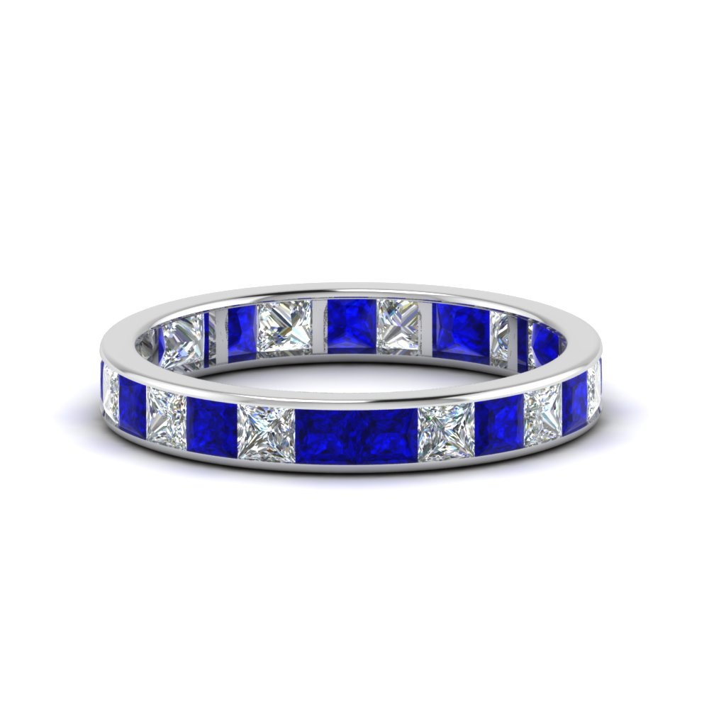2.50 Karat Princess Cut Eternity Band