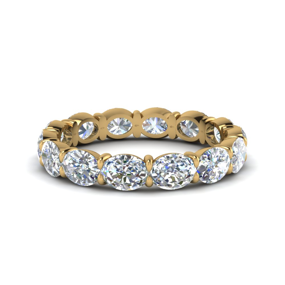 3 carat oval diamond eternity ring in FDEWB8425B NL YG