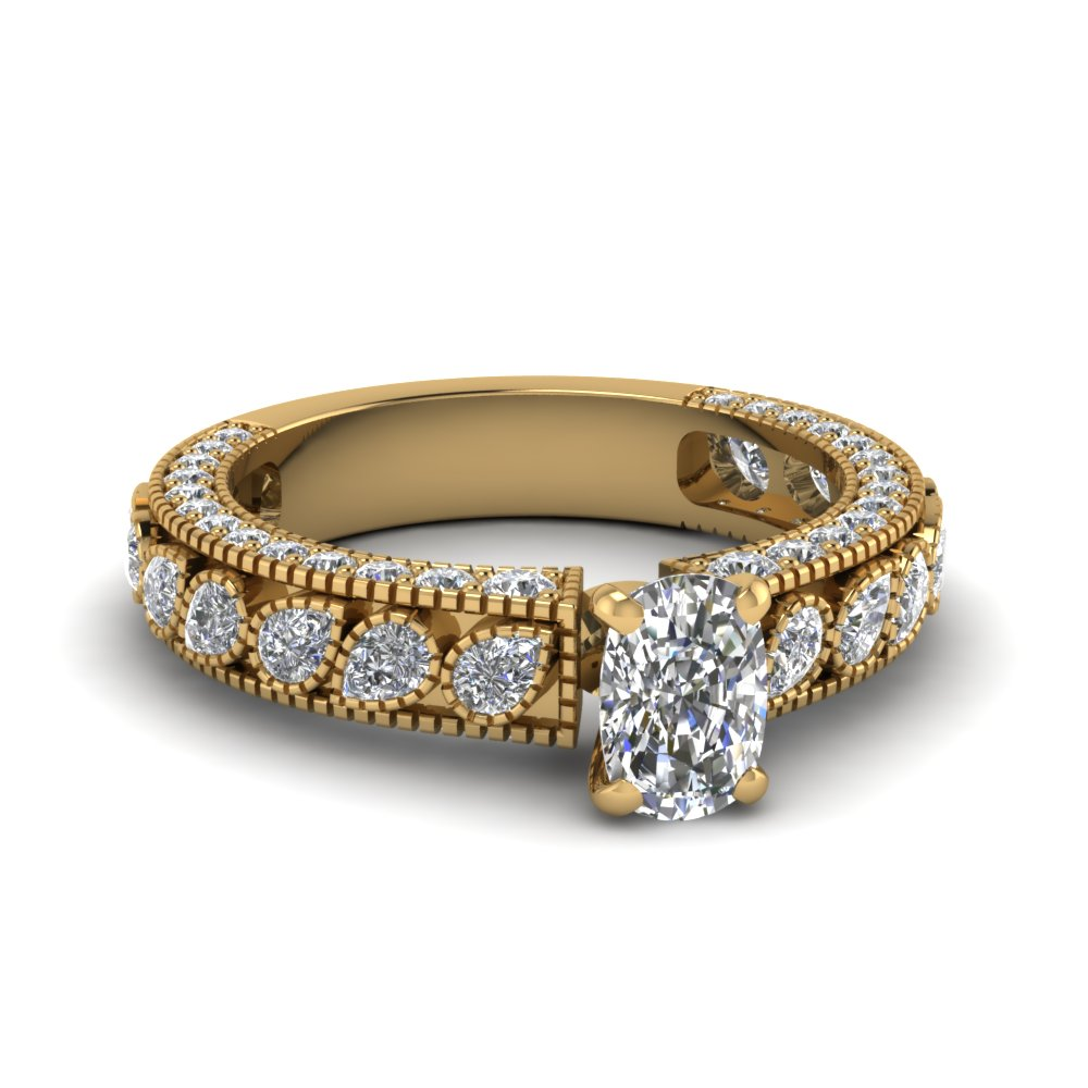 3 Ct. Diamond Vintage Looking Ring