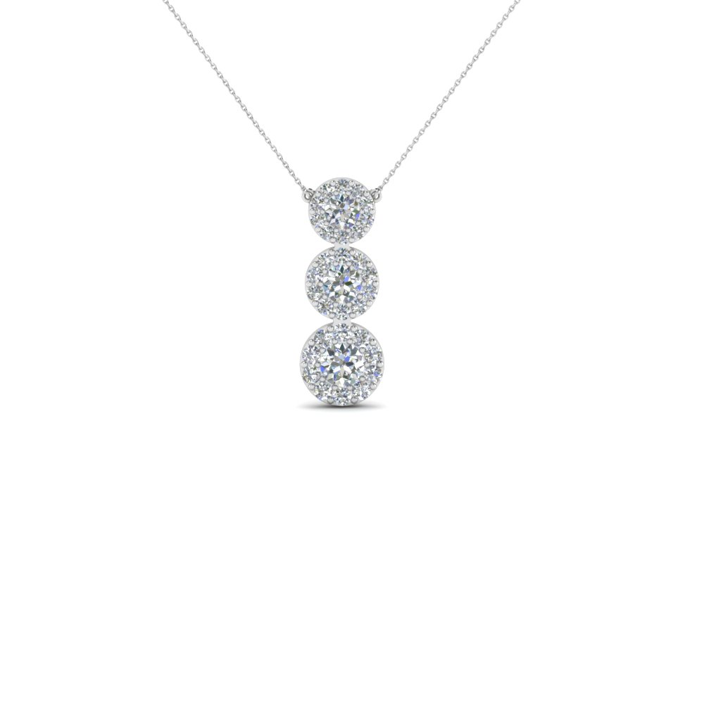 3 diamond halo drop pendant necklace in 14k white gold 3 diamond halo drop pendant necklace in 14k white gold fdpd2314 nl wg aloadofball Choice Image