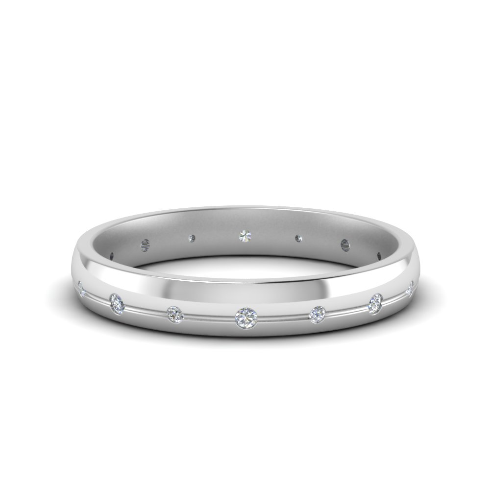 3 mm classic diamond wedding band for her in 950 platinum 3 mm classic diamond wedding band for her junglespirit Images