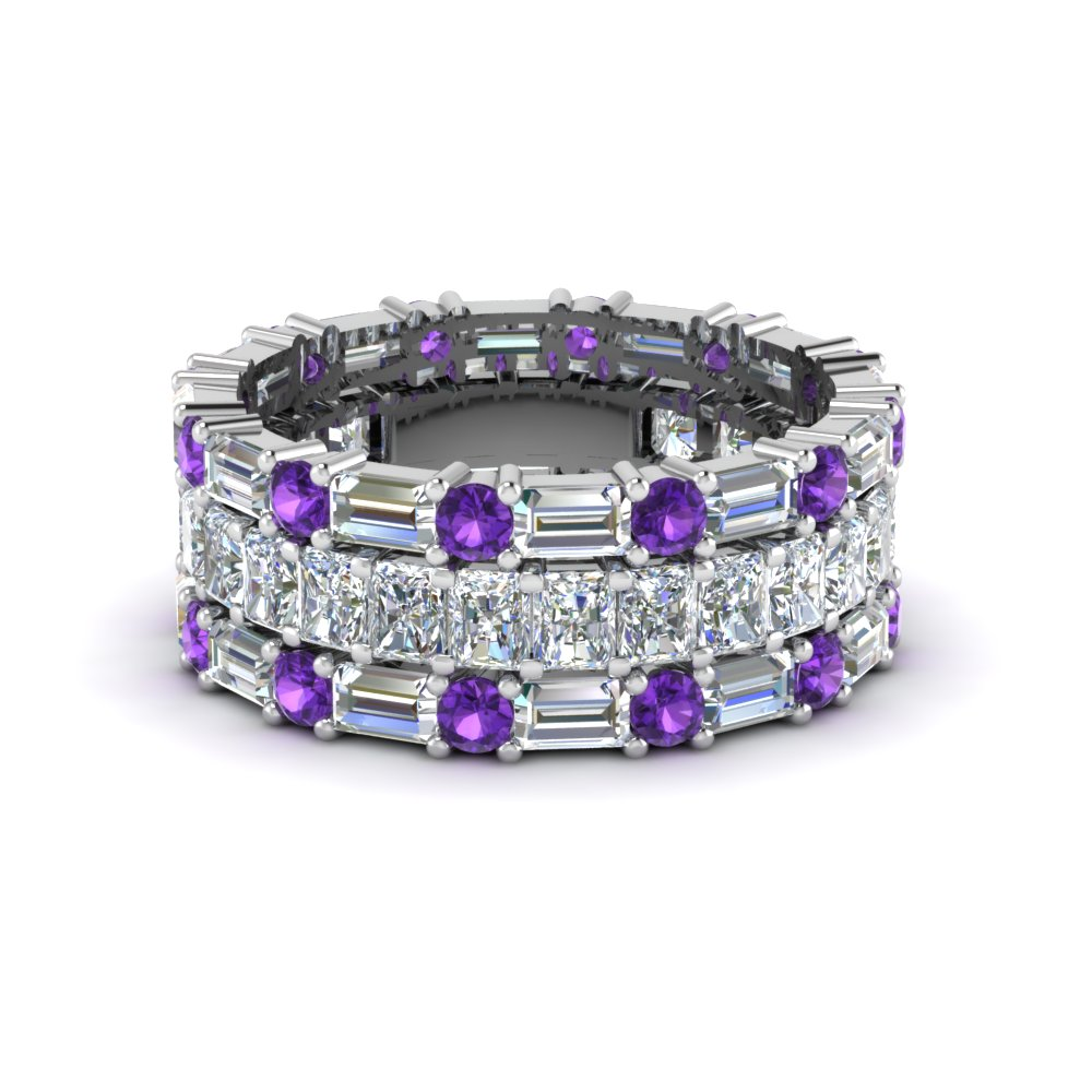 Purple Topaz Stackable Band
