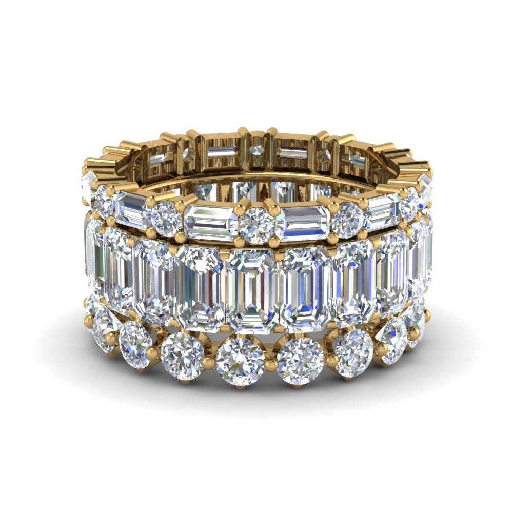 Trio Stack Eternity Band