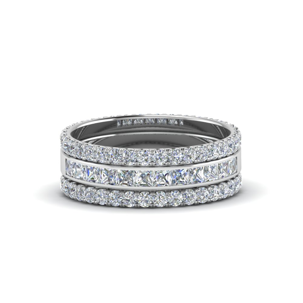 3 Piece Stackable Eternity Band