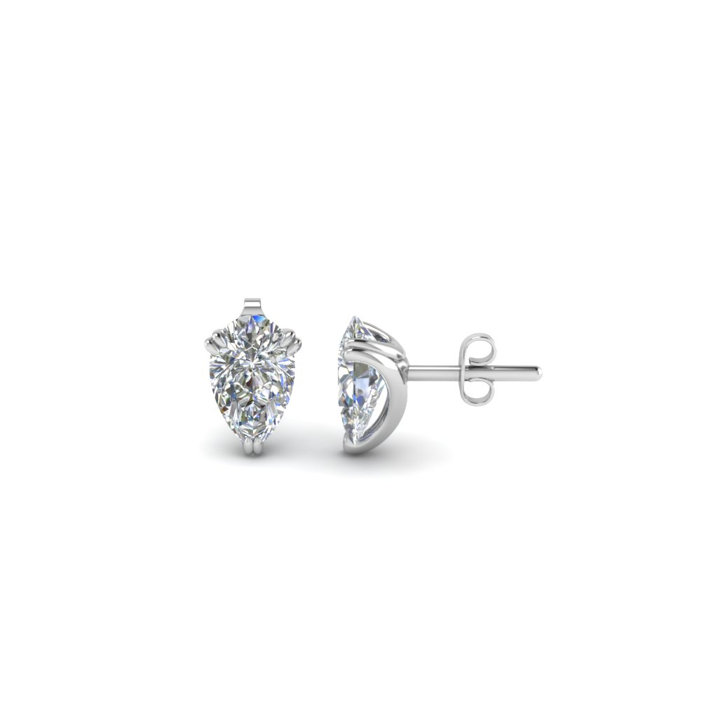earrings martini prong set round gold cirelli products quality white carat classic studs solitaire stud diamond