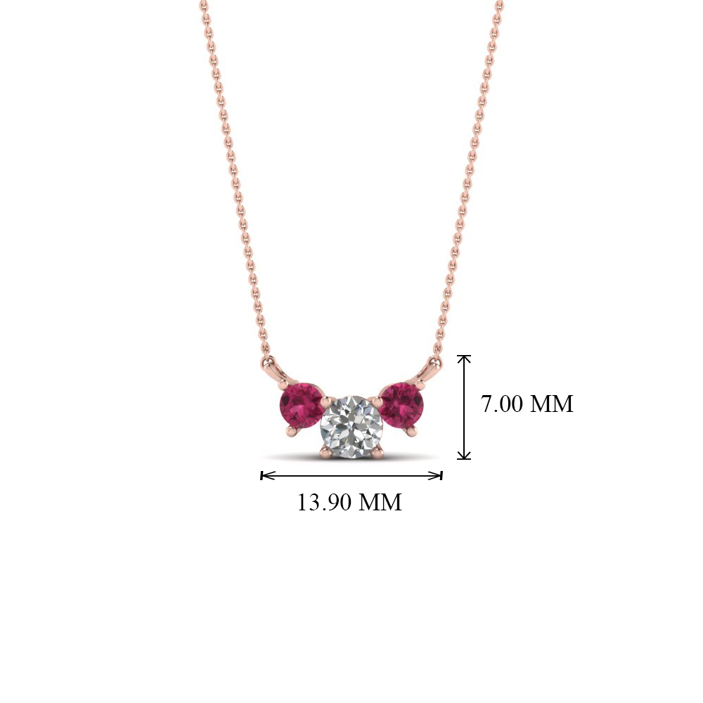 with necklace sapphire products and diamonds ogi pendant white set bezel gold pink ltd
