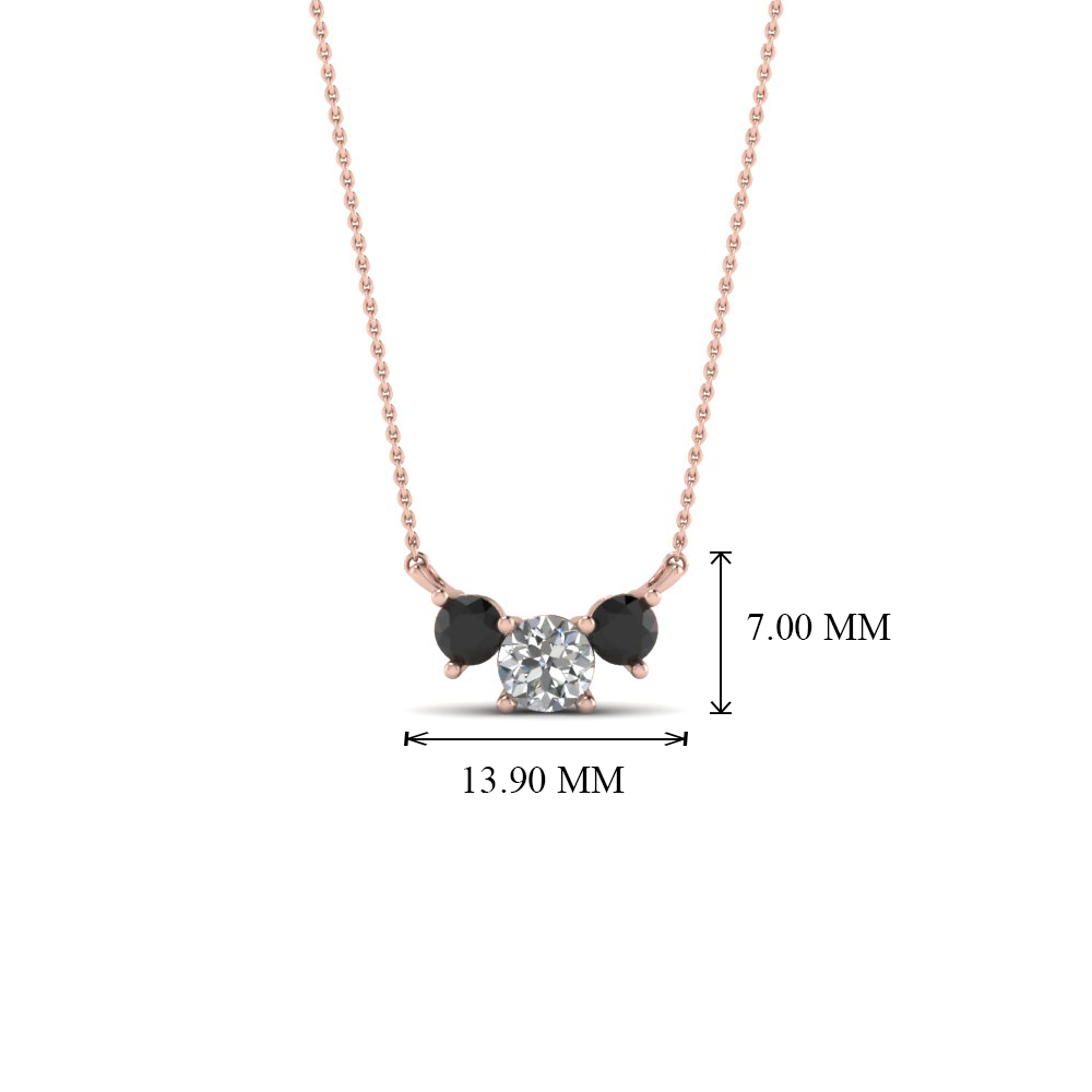 3 round pendant necklace with black diamond in 18k rose gold add to cart sku fdpd894 this 3 stone diamond pendant necklace aloadofball Gallery