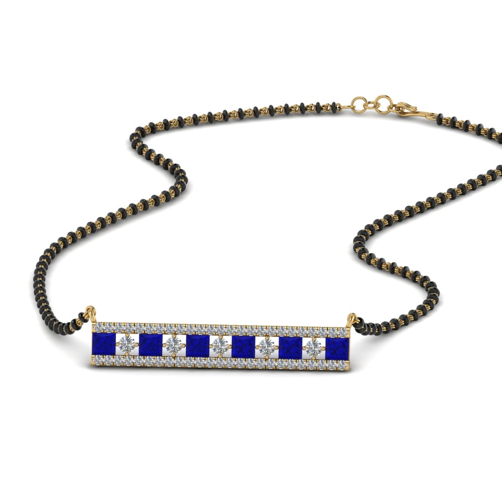 Mangalsutra Pendant With Blue Sapphire