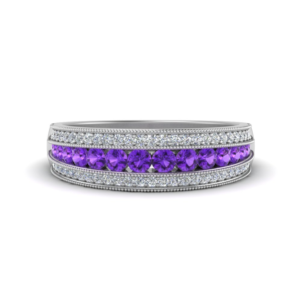 3-row-diamond-milgrain-band-with-purple-topaz-in-FD8680BGVITO-NL-WG