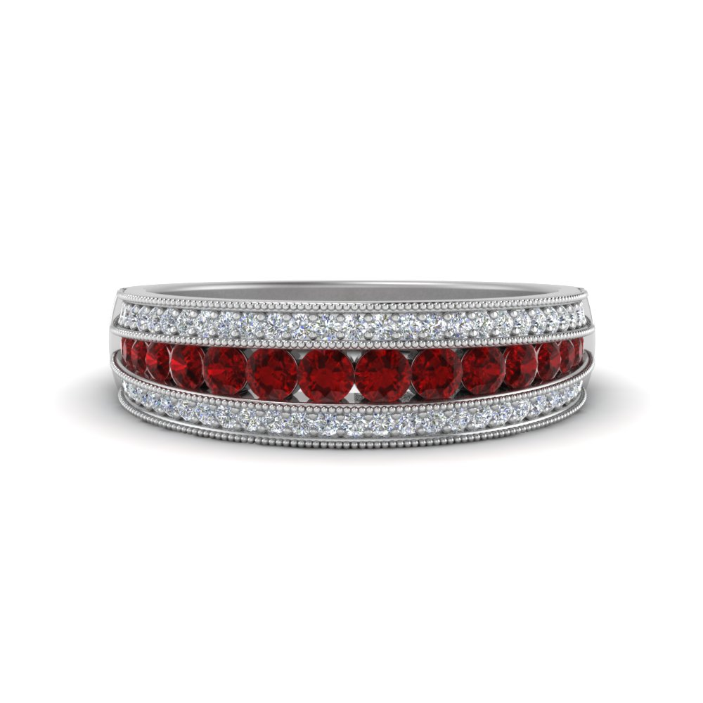 Ruby Trio Diamond Band