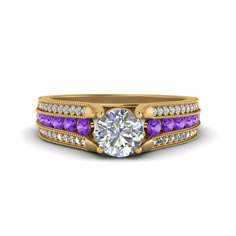 3-row-diamond-milgrain-engagement-ring-with-purple-topaz-in-FD8680RORGVITO-NL-YG