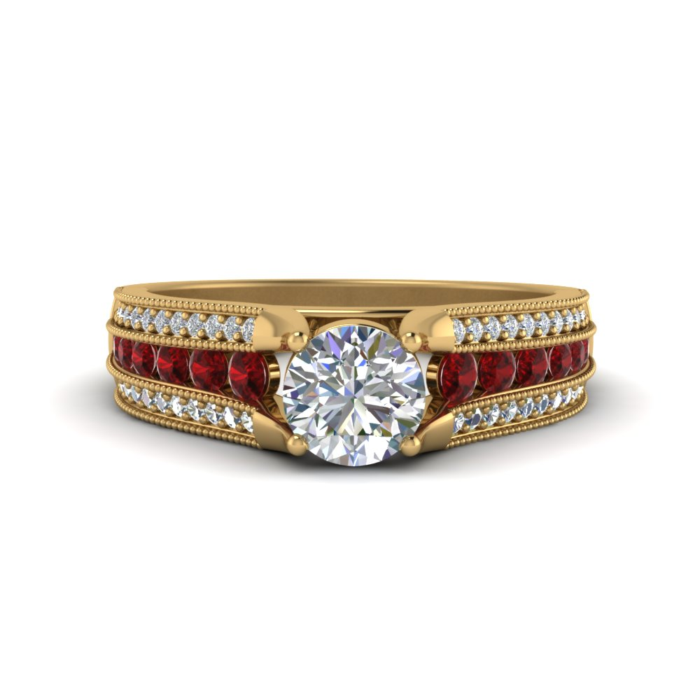 3-row-diamond-milgrain-engagement-ring-with-ruby-in-FD8680RORGRUDR-NL-YG