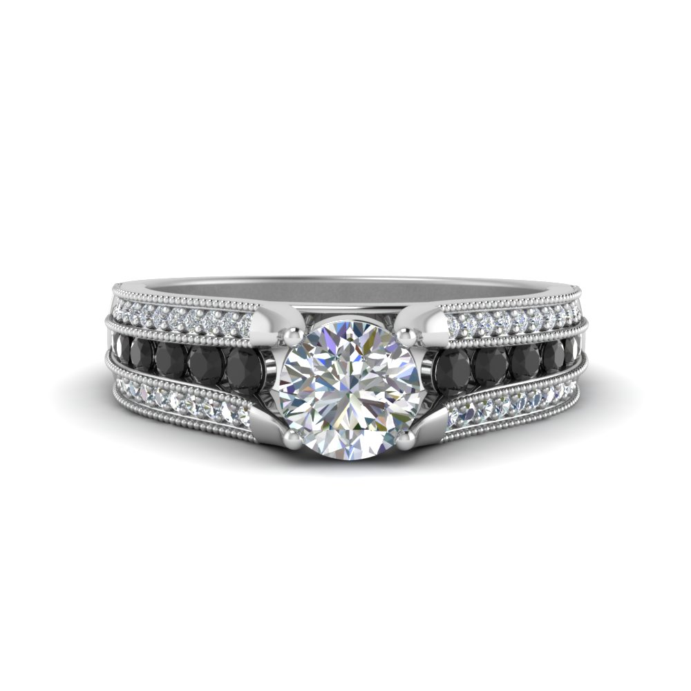 3-row-milgrain-engagement-ring-with-black-diamond-in-FD8680RORGBLACK-NL-WG