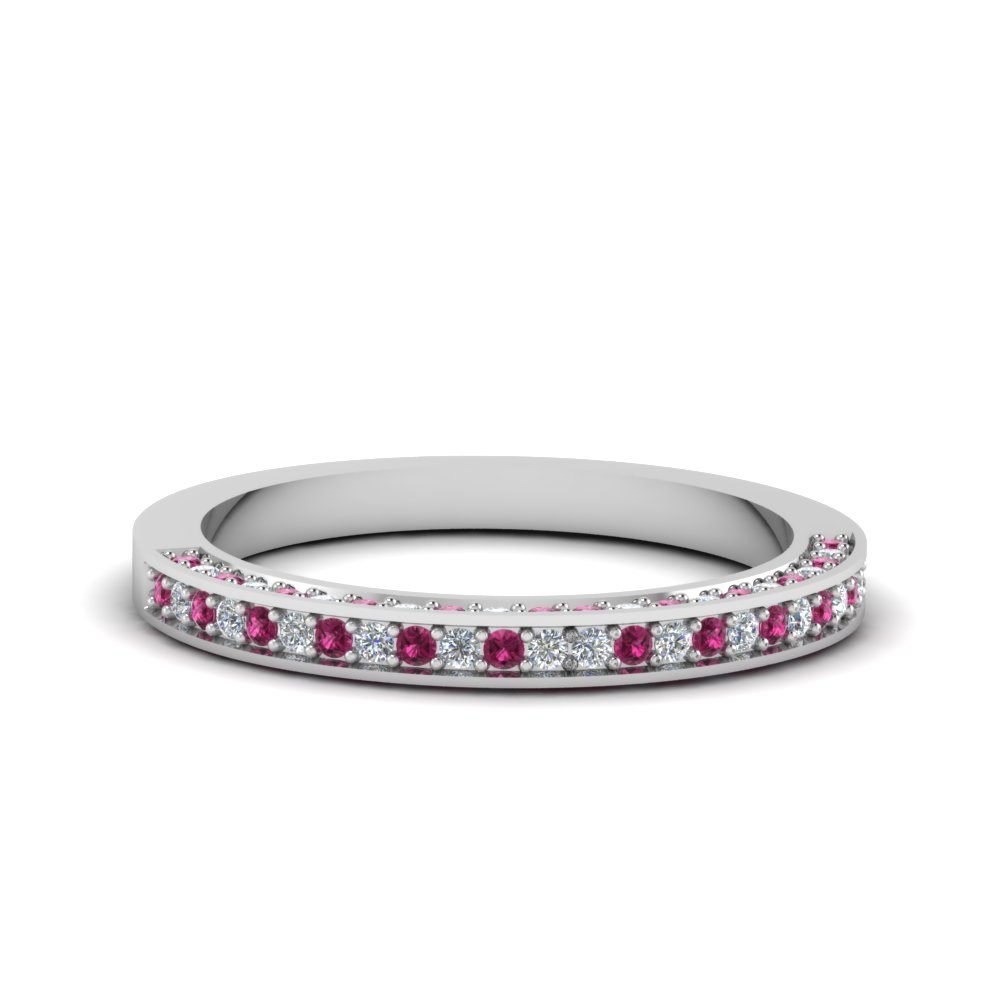 wedding white in anniversary side jewelry wg pave with rings sapphire pink band diamond gold custom set cheap bands for female nl