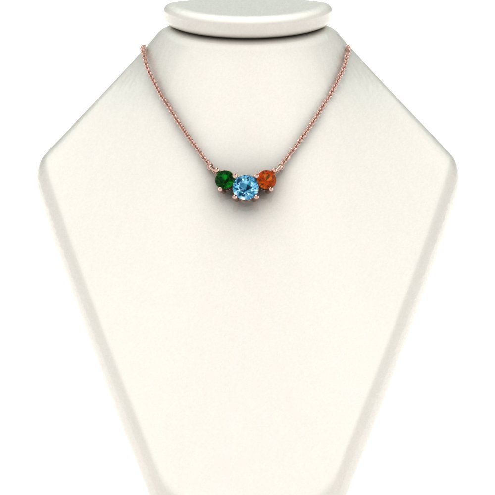 for circle mom birthstone necklace slider
