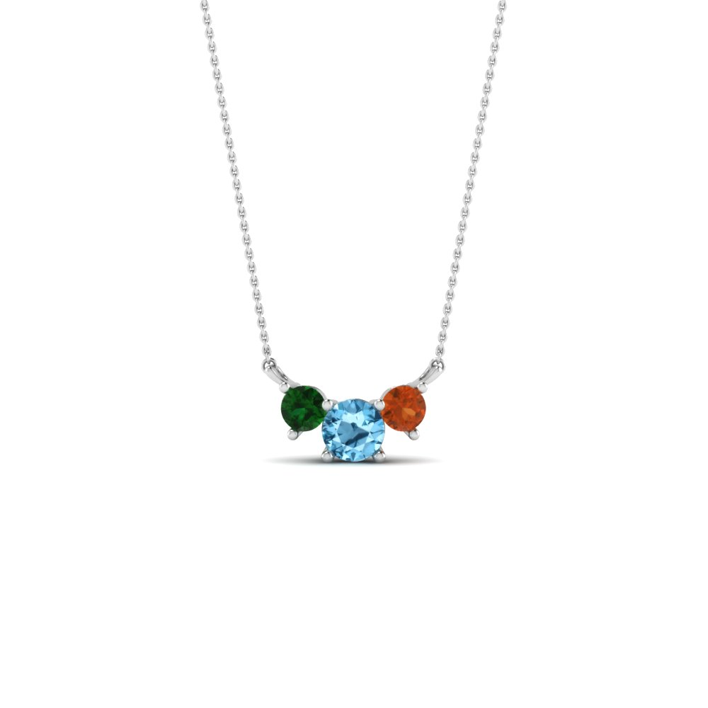 3 Birthstone Pendant For Mothers
