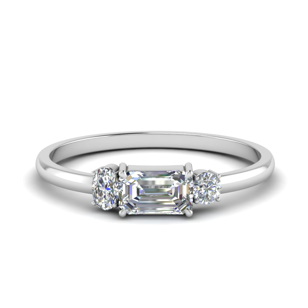 3 Stone Alternative Diamond Ring