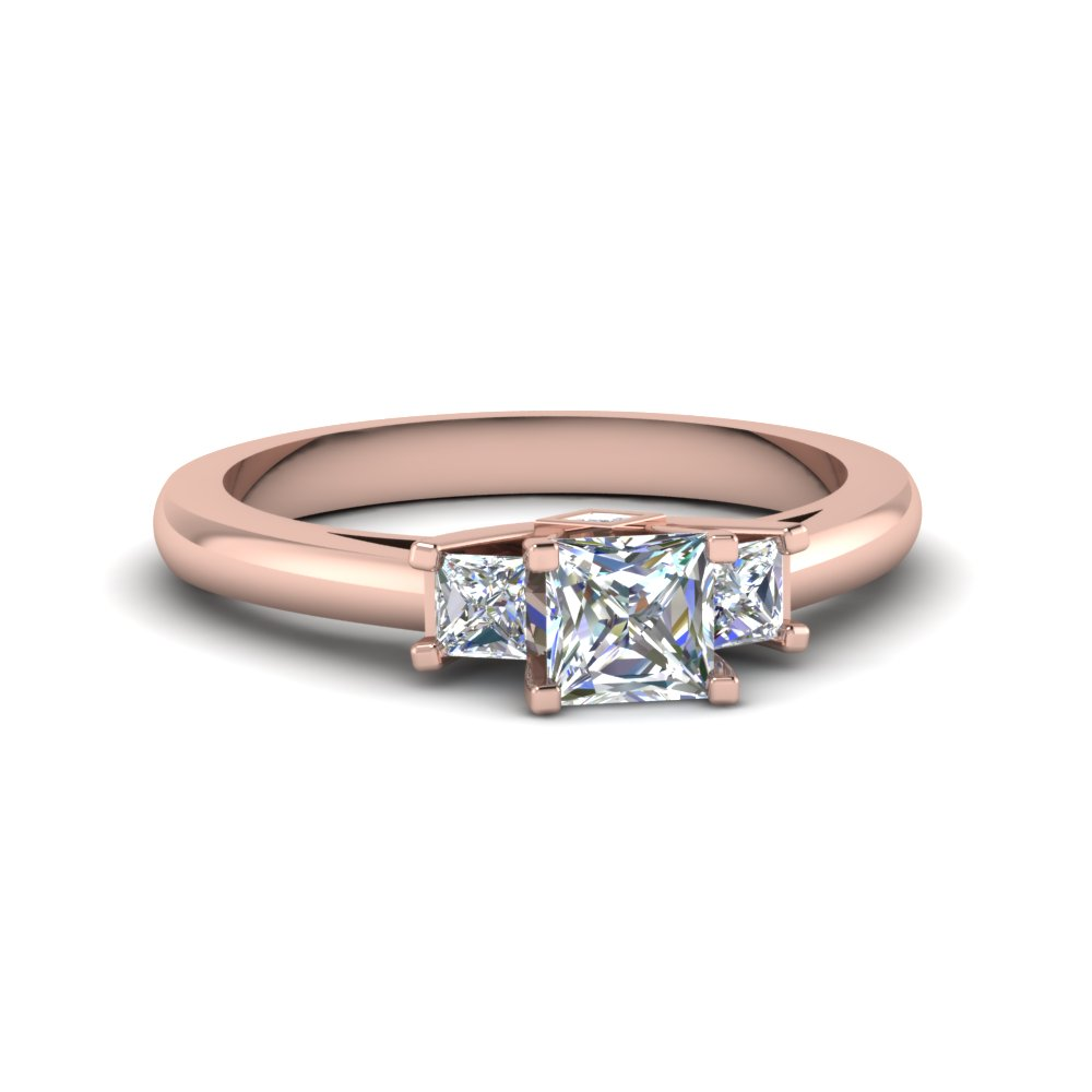 3 Stone Princess Cut Ring