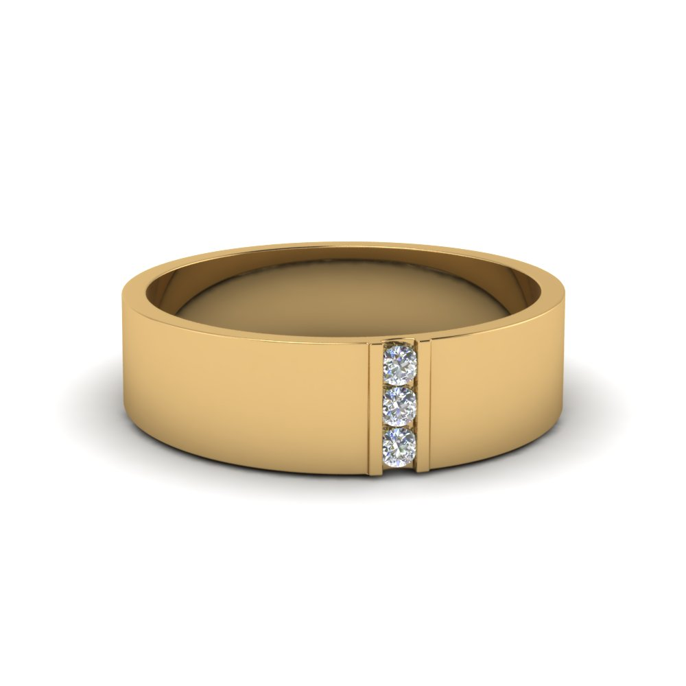 Find 18k yellow gold wedding bands for men fascinating for Mens wedding rings yellow gold