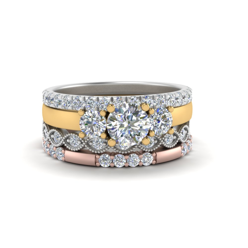 Diamond Ring With Stacking Band