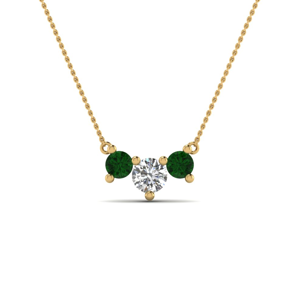 Anniversary Emerald Necklace