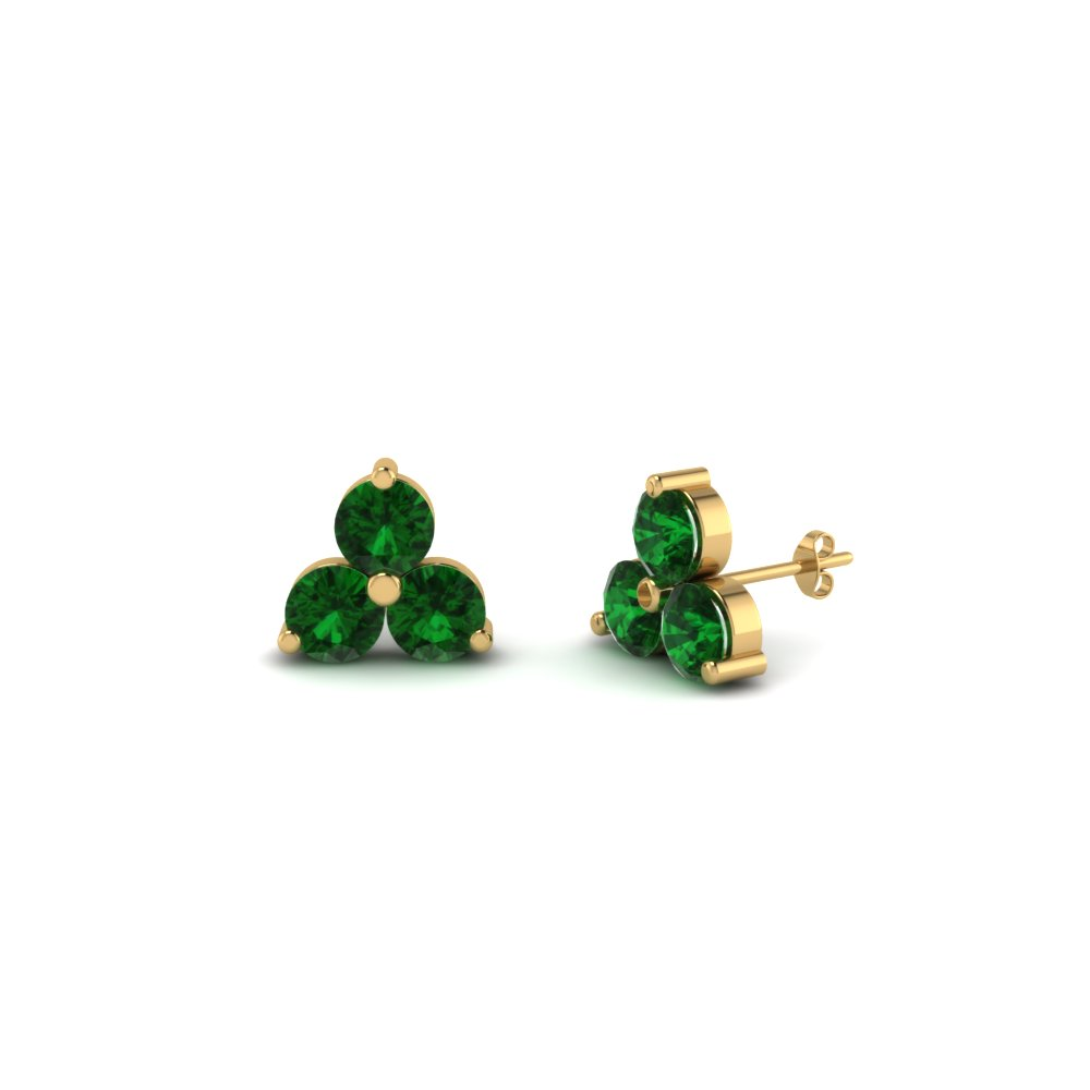 earrings white emerald company green giacobbe gold products stud