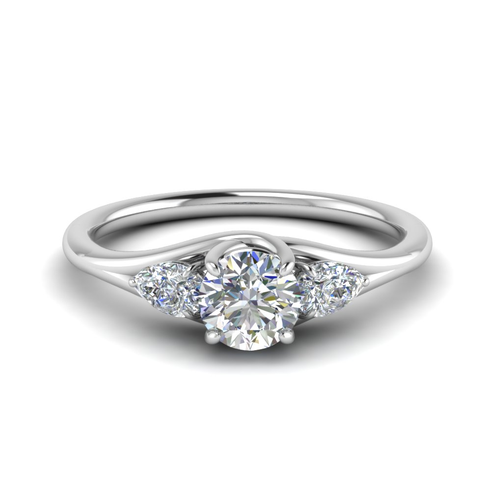 3 Stone Trellis Moissanite Ring