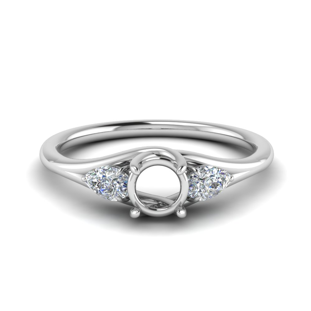 Three Stone Ring Settings