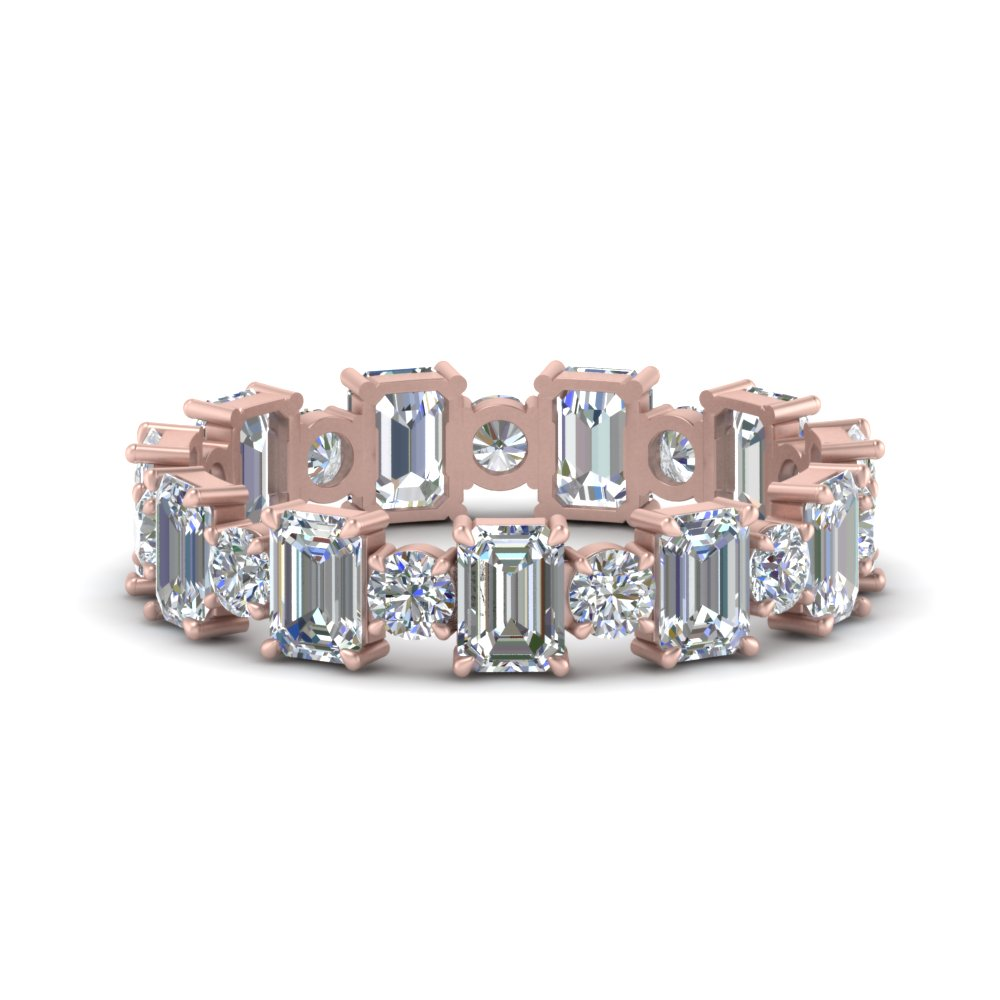 3.50-carat-diamond-emerald-cut-with-round-eternity-wedding-band-in-FDEWB123628EM(3.00MM)-NL-RG