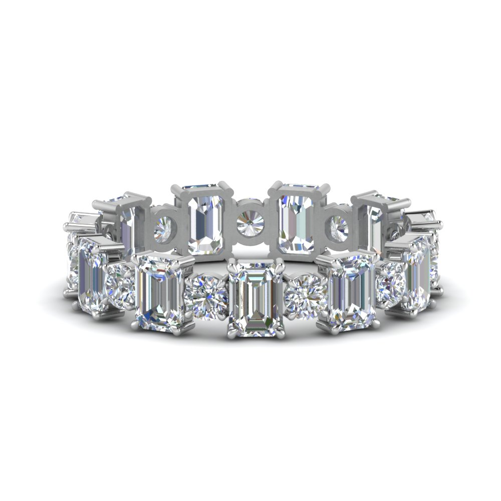 Emerald Cut Eternity Band 3.50 Ct.