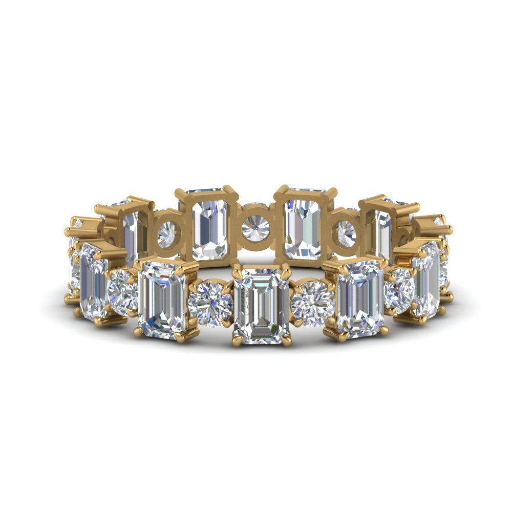 3.50 Carat Emerald Cut With Round Band