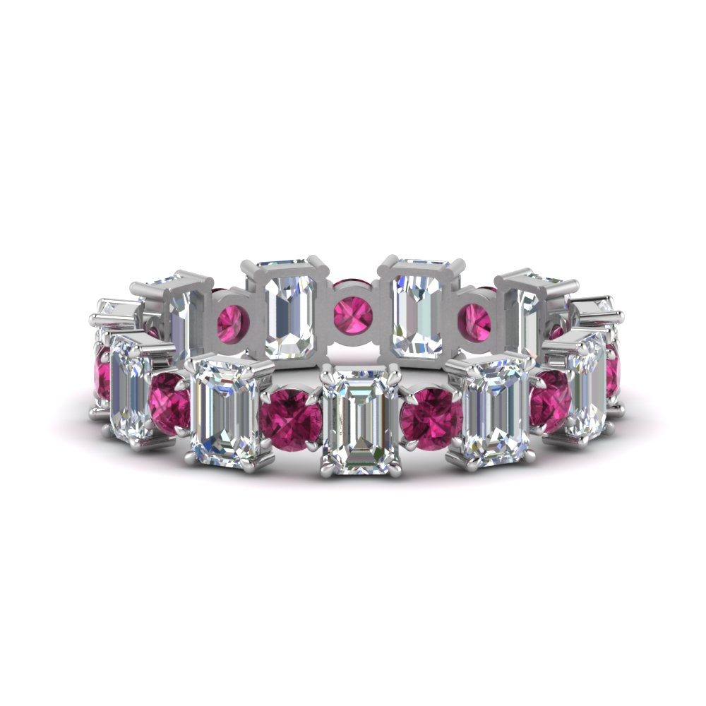 3.50-carat-diamond-emerald-cut-with-round-eternity-wedding-band-with-pink-sapphire-in-FDEWB123628EM(3.00MM)GSADRPI-NL-WG