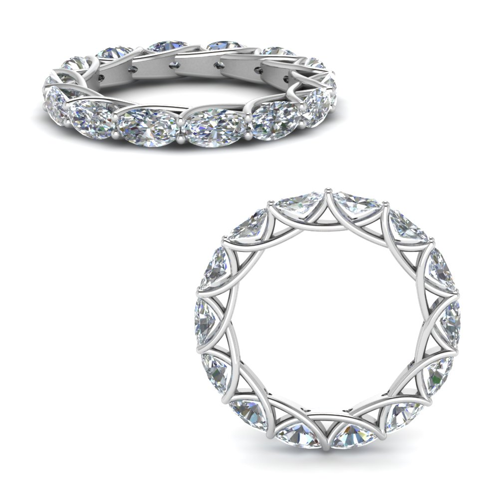 3.50 Ct. Diamond Trellis Eternity Ring