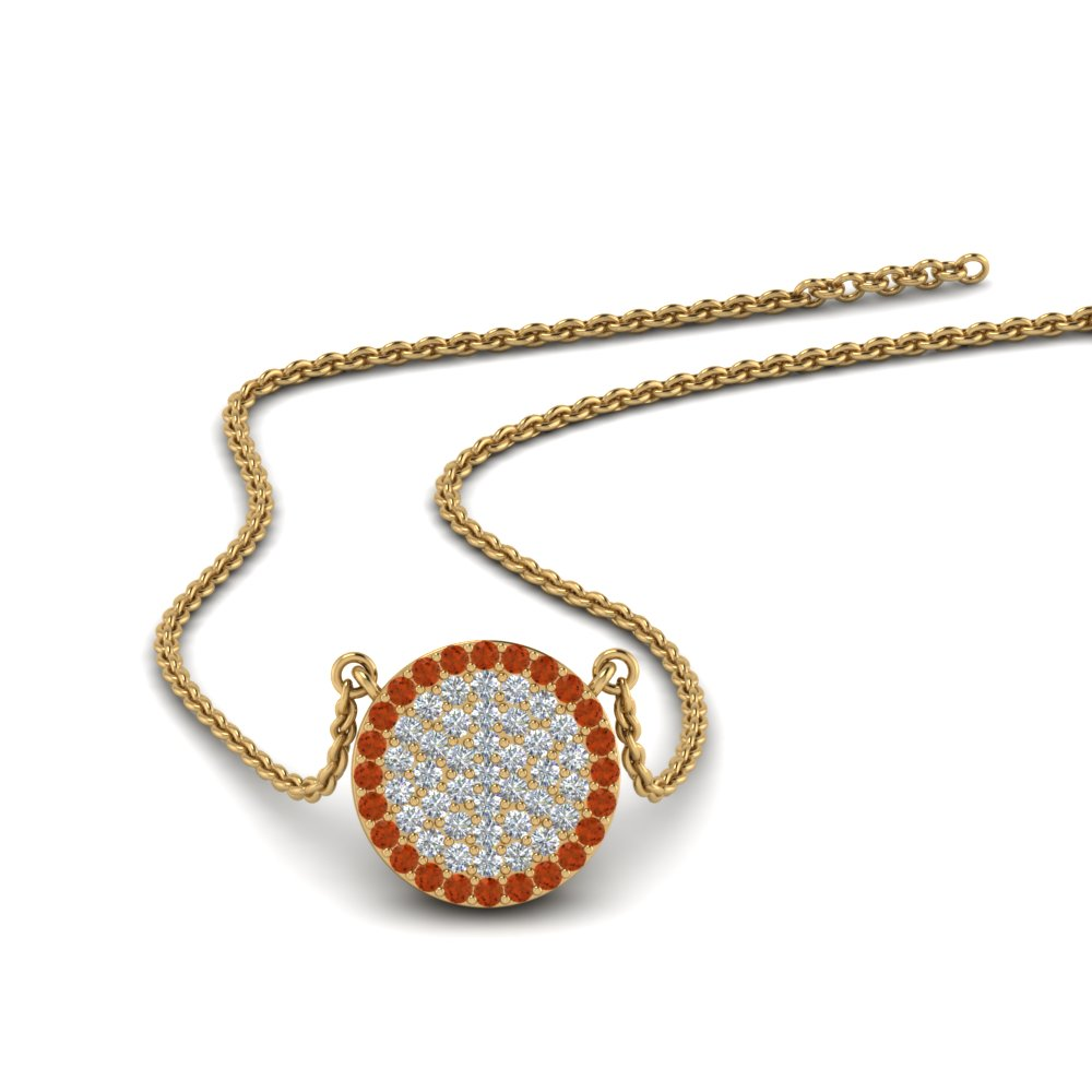 0.30 ct.-diamond-disc-pendant-with-orange-sapphire-in-FDPD9255(10.00MM)GSAOR-NL-YG
