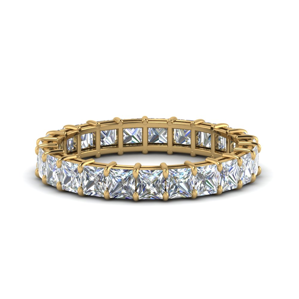 4 Carat Princess Cut Diamond Eternity Ring