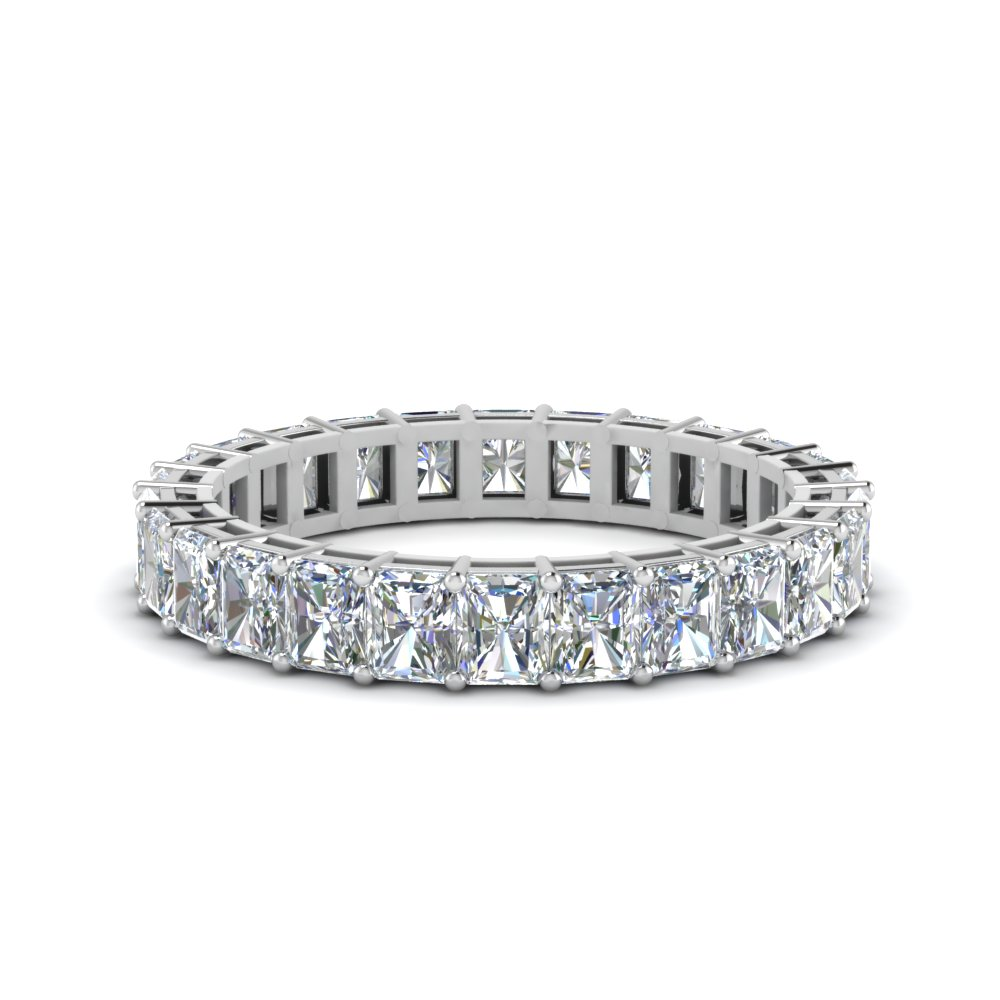 4 Ct. Radiant Cut Eternity Ring