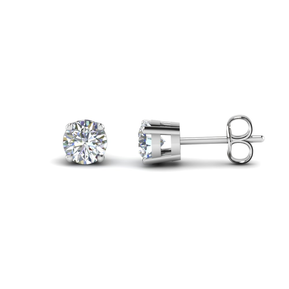 4 Carat Round Diamond Stud Earring